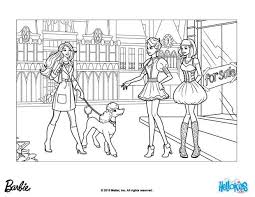 Small Picture Barbie takes sequin for a walk coloring pages Hellokidscom