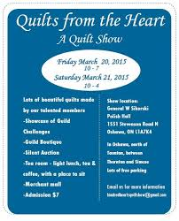 67 best Ontario Arts,Crafts and Quilt Shows images on Pinterest ... & March 2015 Kindred Hearts Quilg Guild presents