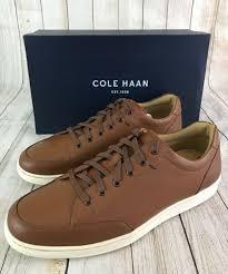 cole haan men s casual sagan sneaker ii tan leather size 10 m new in box
