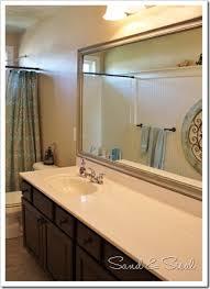 framed bathroom mirrors diy. Painted Framed Mirror (683x1024) Bathroom Mirrors Diy Y