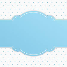 Blue Ribbon Design Blue Ribbon Text Frame With White Small Polka Dot Background