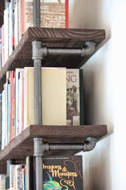 Industrial Bookcase Diy Best 25 Pipe Bookshelf Ideas On Pinterest Diy Industrial