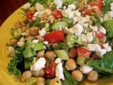 15 minute greek garbanzo bean salad