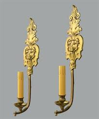 gold wall sconces sconce candle holder with black shades antique leaf
