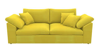 sofa bed loveseat couch yellow png image with transpa background