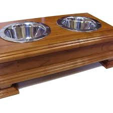 raised dog bowls finest solid wood cherry elevated dog feeder raised dog bowl stand or dog