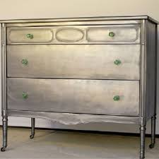 diy metallic furniture. metallic silver refinished furniture i have a piece similar to this one and am trying decide how feel about oneone the fence diy n