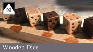 Making Wooden Games How to Make Wooden Dice YouTube 3
