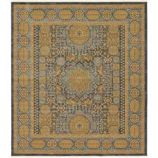 unique loom palace blue 10 x 11 4 square rug