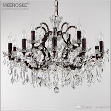 vintage crystal loft chandelier light retro rustic chandeliers ligts fixture 15 arms hanging drop lamp for home living room modern pendant light chandelier