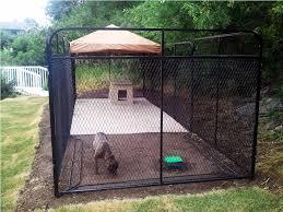 image of dog kennel flooring outside