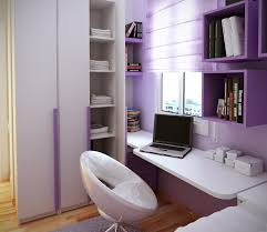minimalist purple nuance of the small house decoration that has wooden floor can be decor with white table can add the beauty inside it has white seat that affordable minimalist study room design