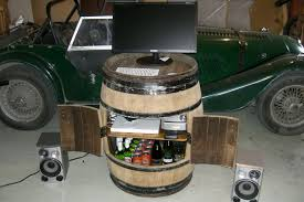 picture of stock up your new wine barrel cabinet