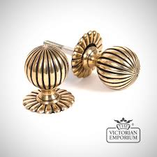 brass door knobs. flower mortice knob set - aged brass door knobs d