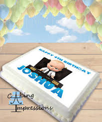 Boss Baby Edible Frosting Image Cake Topper Birthday Party