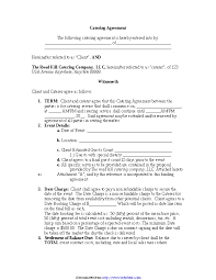 Catering Agreement Catering Agreement Pdfsimpli