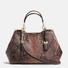 COACH Official Site Official page MADISON CAROLINE SATCHEL IN DIAMOND  PYTHON EMBOSSED LEATHER