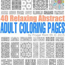 Free Calming Abstract Adult Coloring Pages Frugal Mom Eh