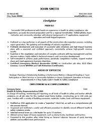 Firefighter Resume Template Premium Resume Samples Example