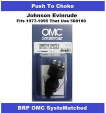 omc ignition switch oem brp omc johnson ignition key switch push to choke 508180 most 1977 1995