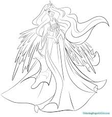 My Little Pony Coloring Pages Princess Celestia And Luna In Page