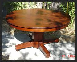 stickley style mission oak vintage dining table with three original leaves
