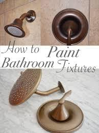 Painting Bathroom Fixtures One Room Challenge Week 3 Bathroom Vanity And Painted Faucets