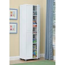 Amazoncom White 24 Inch 2 Door Storage Cabinet Kitchen Pantry