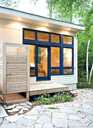 outdoor shower stall shower stall kits exterior beach with blue trim corrugated metal roof glass door