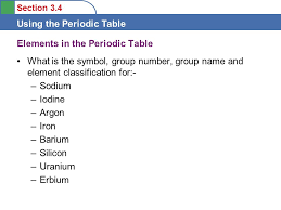 Objectives To learn some features of the Periodic Table - ppt ...