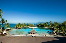 the intercontinental resort tahiti has long been rated the top hotel of tahiti it has a superbly romantic location lagoon side in 30 acres 12 hectares of