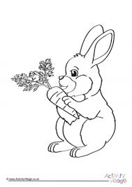 Cute animated rabbit coloring page. Rabbit Colouring Pages