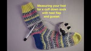 Knitting Sock Measurement Chart Measuring Your Foot For A Sock