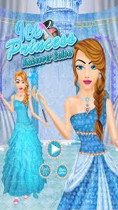 ice frozen princess spa makeup dress