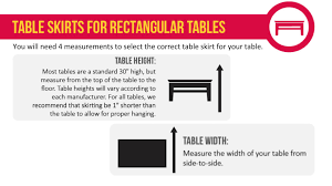 table skirting guide for rectangular round tables
