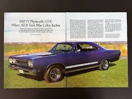 1967 1971 Plymouth Gtx 16 Page Article With Paint Color Charts Ebay