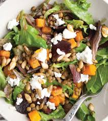 roasted ernut squash lemony lentil salad recipe