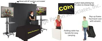 Portable Stands For Display Tradeshow Exhibits Pop Up Frame TV Stands Folding Table 68