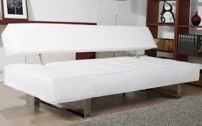 Small Picture Lovable Sofa Bed White Leather with Stunning Sofa Bed White