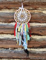 What To Use For A Dream Catcher Hoop Shabby Vintage Doily DIY Dream Catcher My So Called Crafty Life 73