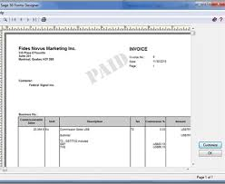 Sales Invoice Sales Invoice For Commission Sage 50 Ca General Discussion