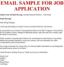 Sample Email Cover Letter Message Piqqus Com