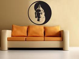 buddha yin yang wall decal buddha wall sticker meditation yoga with regard to yin yang
