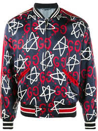 gucci ghost. gucci guccighost star bomber jacket ghost