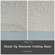 Knockdown Textured Ceiling How To Touch Up Textured Ceiling Paint Water Stains Ceilings