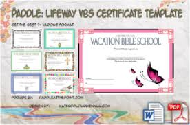 Vbs Certificate Template Religion Paddle At The Point