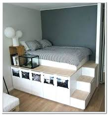 Twin Xl Bed Frame With Storage Elevated Bed Frame Contemporary ...