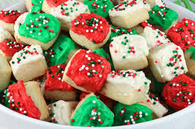 frosted christmas sugar cookies. Christmas Sugar Cookie Bites Throughout Frosted Cookies