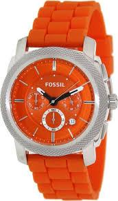 17 best images about orange watches wish list fossil watches men s machine chronograph silicone watch orange watches amazon com