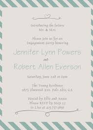 part invites mint green striped engagement party invites affordable ewei010 as